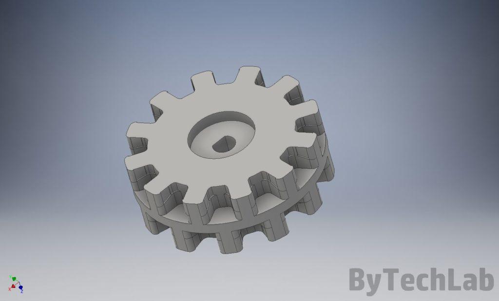 Minisumo BULLET XT - Koło zębate do gumowych gąsienic