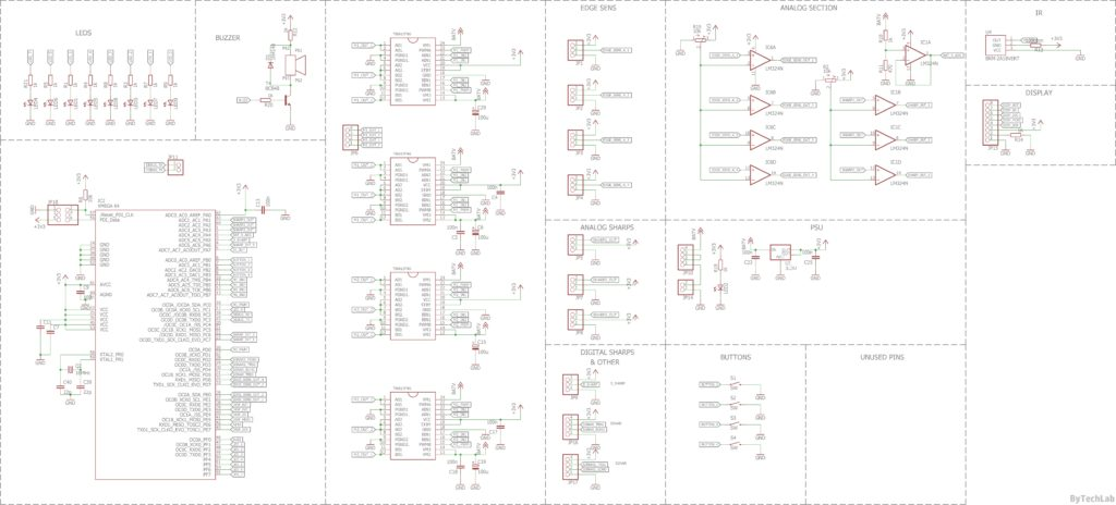 Minisumo BULLET XT - Schematic