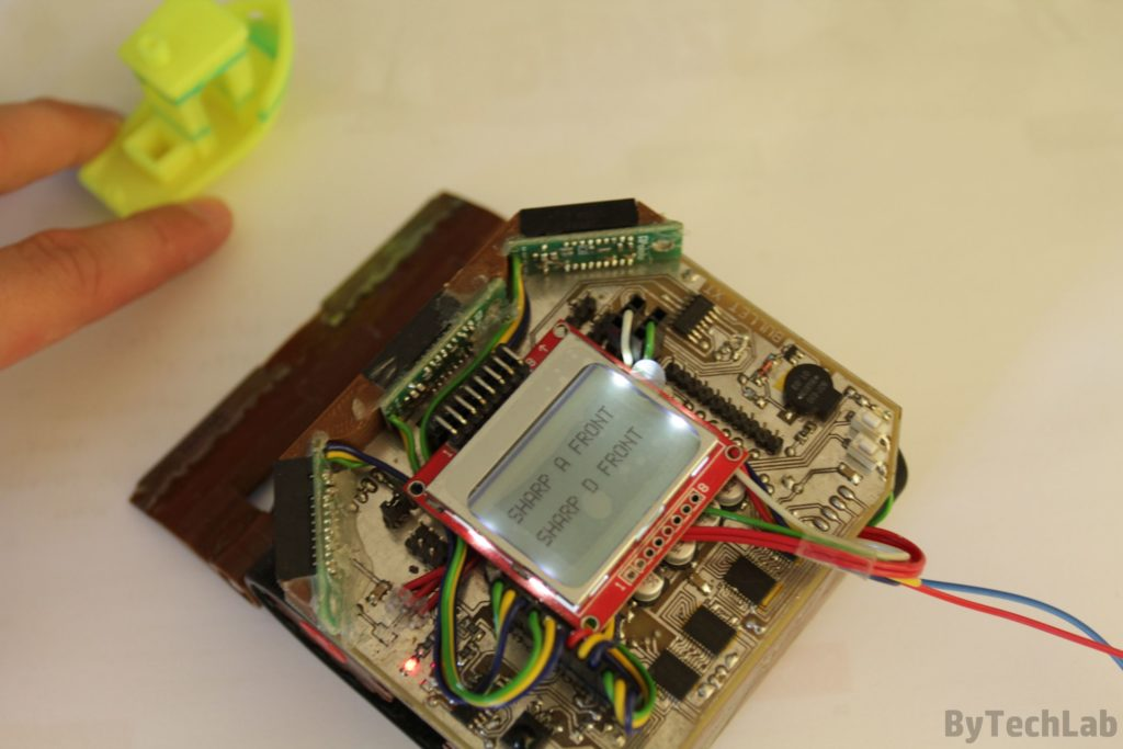 Minisumo BULLET XT - Sensors test