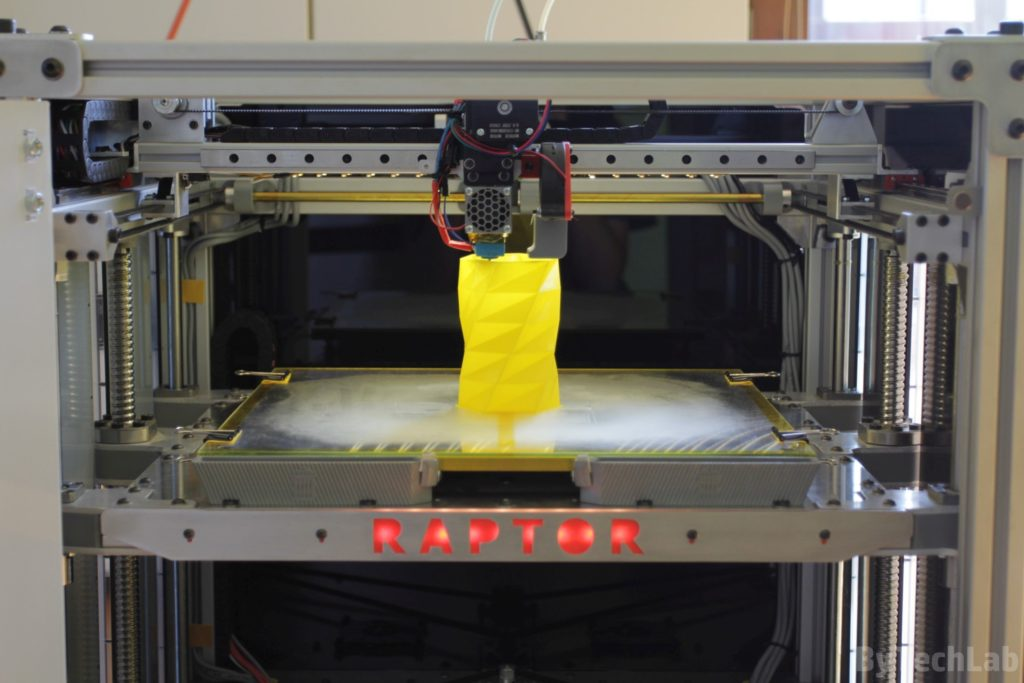 RAPTOR XLS 360 3D printer - Printing vase 3