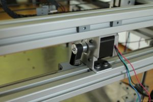 RAPTOR XLS 360 3D printer - Y axis motor mount rear view