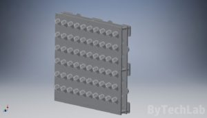 SMD parts organiser - Front view render