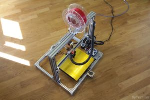 T REX 300 3D printer - Rear view 3
