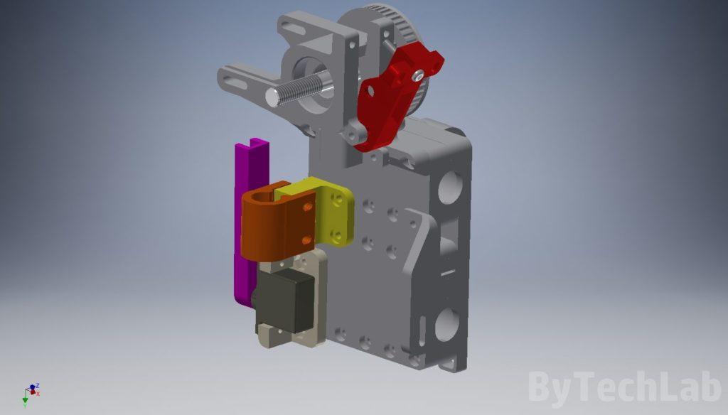 T REX 300 3D printer - X carriage accessories render