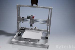 Drukarka 3D T-REX 300 - Render widoku z przodu