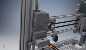 T REX 300 3d printer - X end z axis leadscrew mount