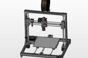 T REX 300 3D printer - Front view render