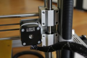 T REX 300 3D printer - X axis stepper motor rear view