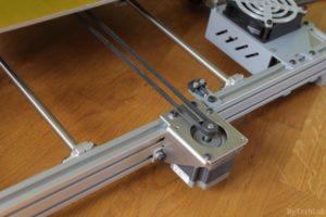 T REX 300 3D printer - Y axis aluminium motor bracket