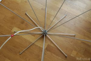 Discone antenna - Discone antenna completed