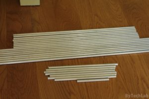 Discone antenna - Cutting aluminium rods to size 2