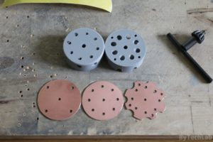 Discone antenna - Cutting and drilling [copper plates/PCB,s]