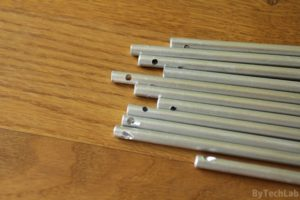 Discone antenna - All aluminium rods with drilled holes