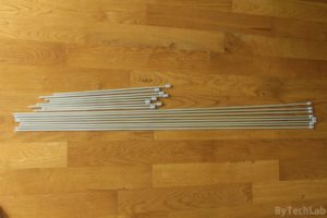 Discone antenna - Finished aluminium rods