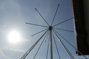 Discone antenna - Mounted on the balcony