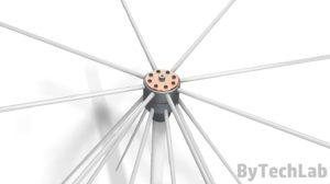 Discone antenna - Top view render