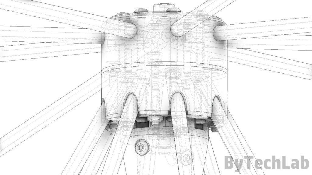 Discone antenna - Wireframe render