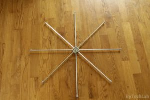 Discone antenna - Top disc finished