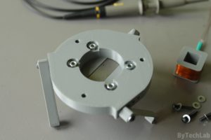 SMD parts bowl feeder prototype - Base plate assembly bottom view