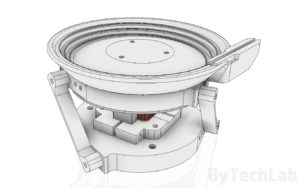 SMD parts bowl feeder prototype - Side view render