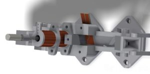 Measurement rail for SMD parts - Solenoid actuator exploded view render