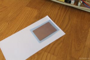 An LED you can blow out like a candle - Applying photoresist film 3