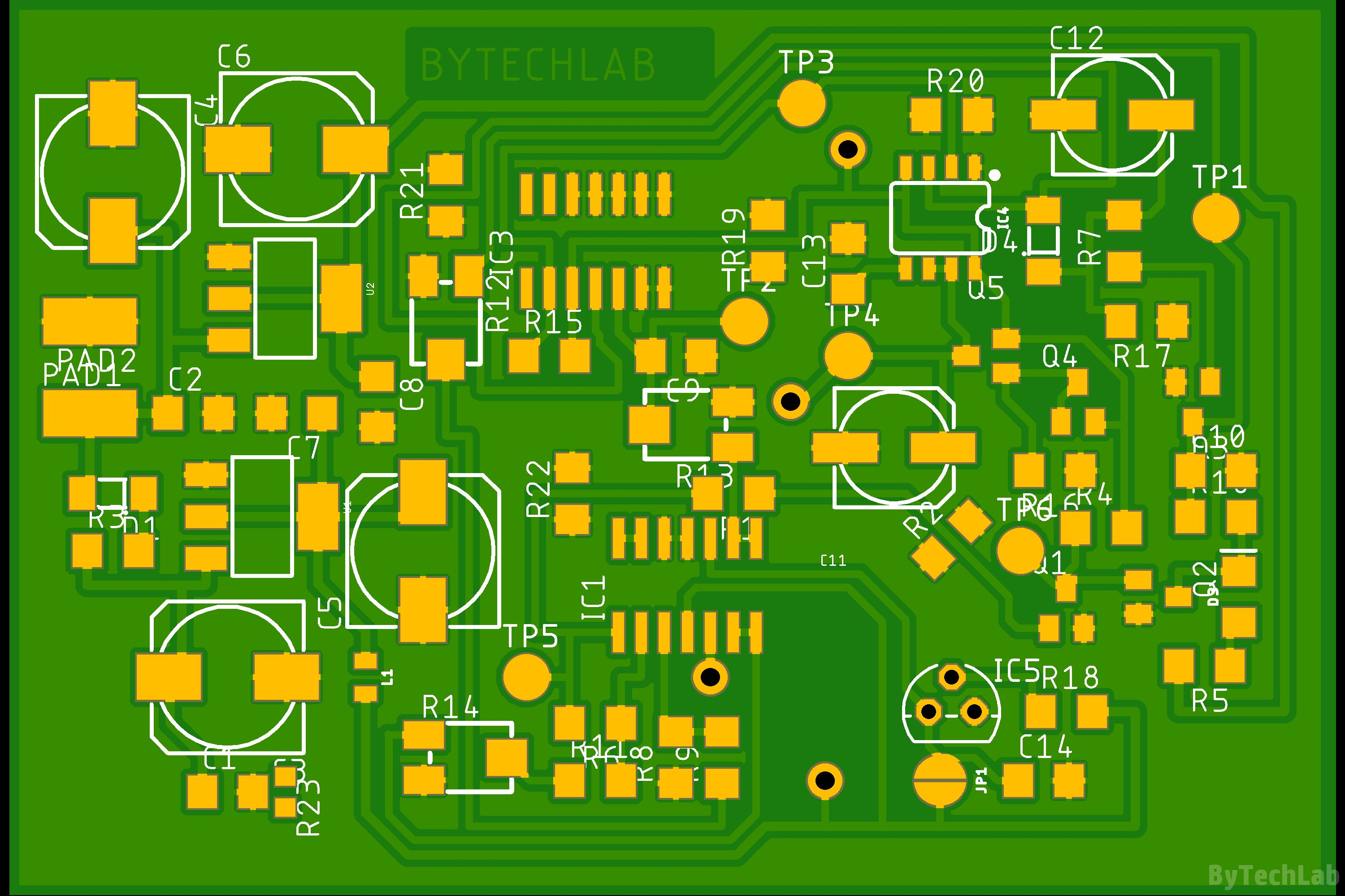 An Led You Can Blow Out Like A Candle Analog Circuit Bytechlab For Pcb Render Top View