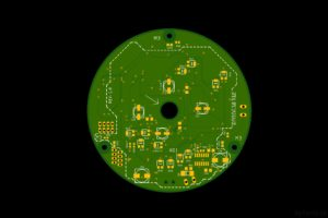 LED Tree - PCB render - bottom layer