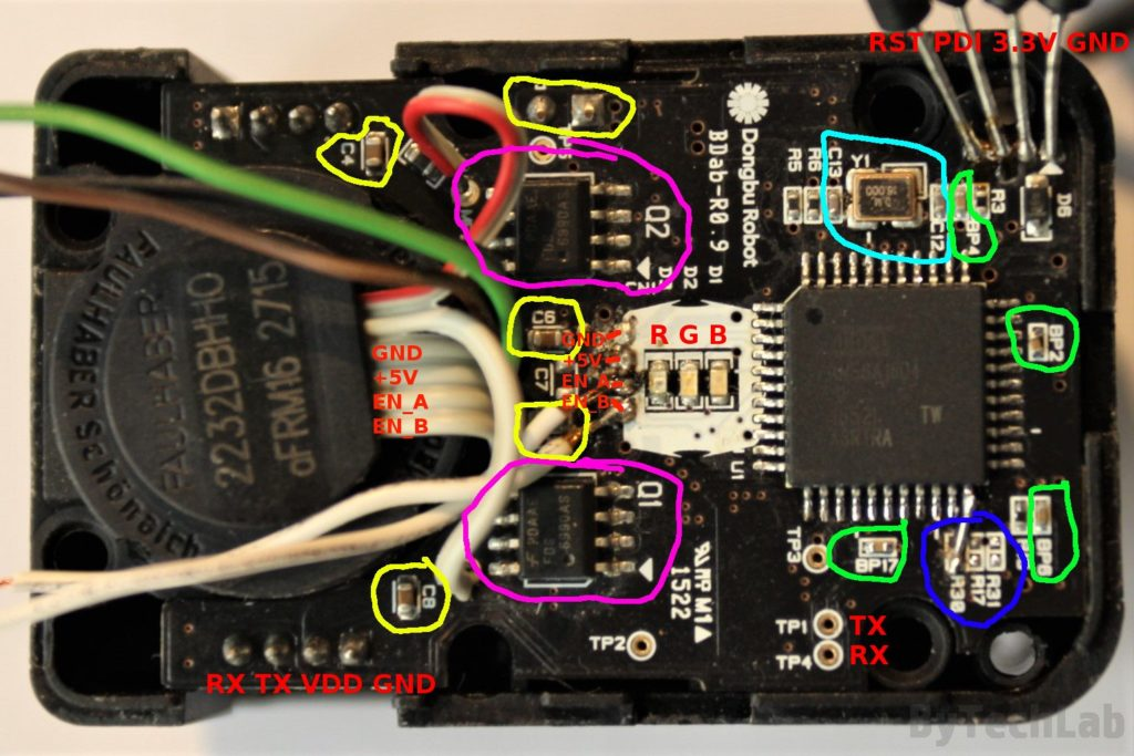 Reverse engineering herkulex drs 0602 - Top PCB description