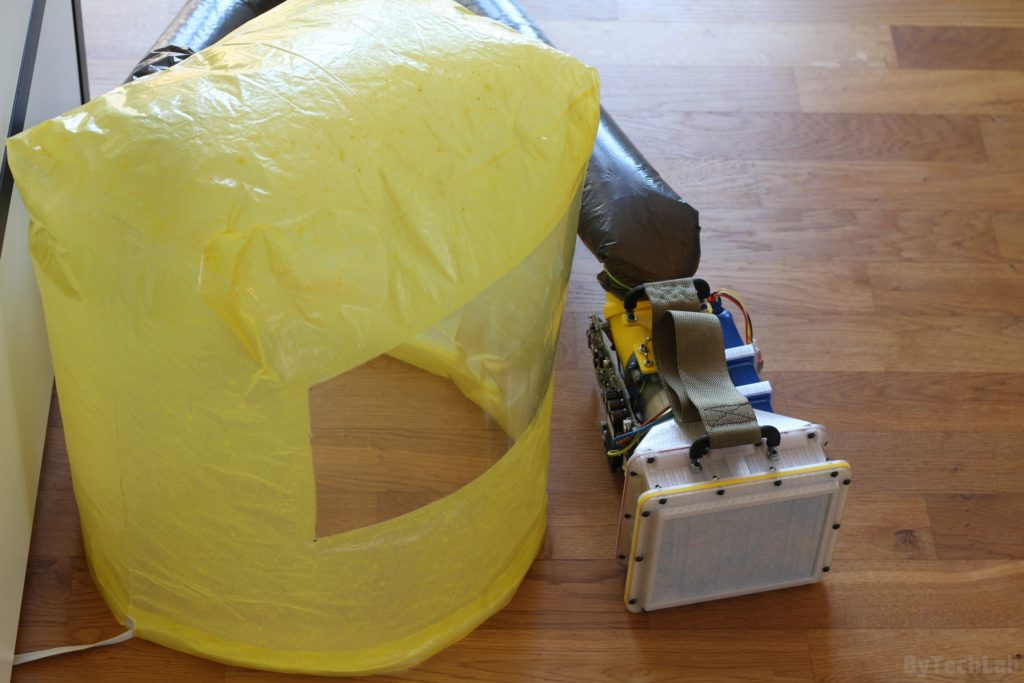 Air filtering unit & pressure suit (COVID-19) - Pressure suit test 3