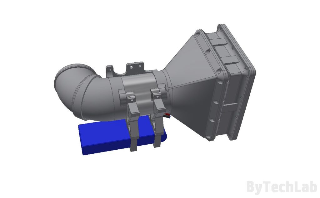 Air filtering unit & pressure suit (COVID-19) - Bottom view render