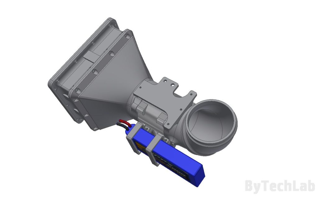 Air filtering unit & pressure suit (COVID-19) - Top view render
